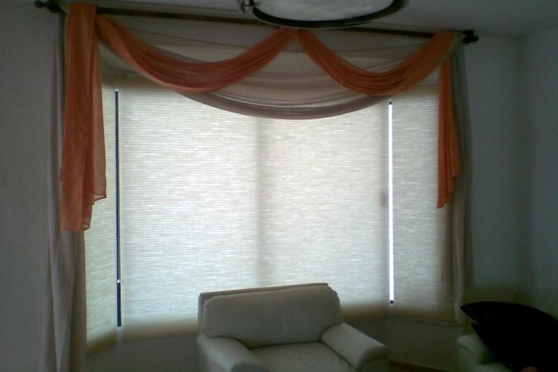 Encantador decoraci n de interiores cortinas festooning for Decoracion de interiores cortinas
