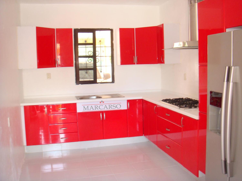 Cocinas integrales marcarso decoraci n de interiores for Granito color rojo